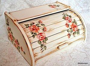 Nádoby - Chlebník ružový sen - 1773305