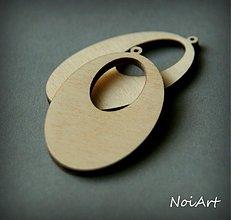 Materiál ručne robený - Ovál s výrezom - 1776138