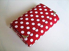 Peňaženky - Red DOTS - peněženka i na karty - 1786104