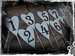 Papiernictvo - ...číselká na označenie svadobného stola... - 1786385