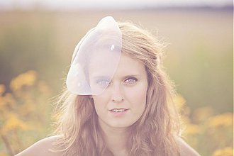 Ozdoby do vlasov - Svadobný klobúčik so závojom Blusher - 1787601