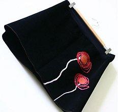 Tehotenské oblečenie - Menžestrová  sukňa s makmi - 1792396