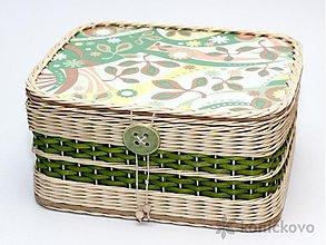 Košíky - Košík z pedigu Rosmarinus VERDE - 1792640