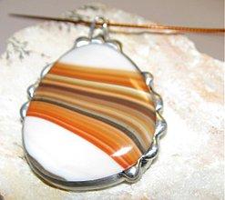 Náhrdelníky - Oranžová línie... - 179969