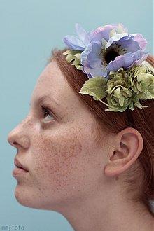 Ozdoby do vlasov - Modra Anemonka by Hogo Fogo - 1802261