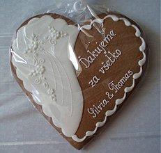 Darčeky pre svadobčanov - Svadobný medovník č.5 (väčší) - 1816788