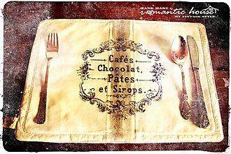 Úžitkový textil - prestieranie Cafés atd. ... - 1819042