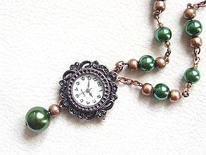 Náhrdelníky - medené vintage hodinky - 1819689