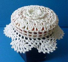 Dekorácie - Čapička na pohár - 1820458
