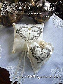 Prstene - Svadba - srdieckovy vankusik - 1825238