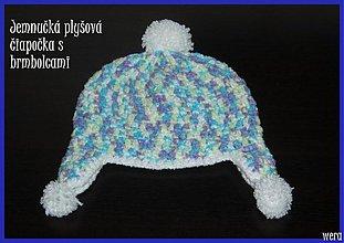 Detské čiapky - Plyšová melírovaná čiapočka - 1826031