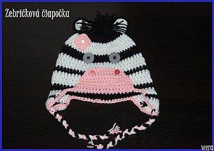 Detské čiapky - Zebričková čiapočka - 1826059