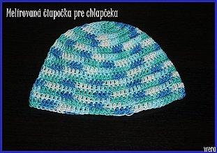 Detské čiapky - Melírovaná čiapočka pre chlapčeka - 1826163