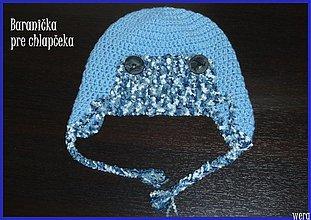 Detské čiapky - Baranička pre chlapčeka - 1826185