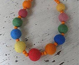 Náhrdelníky - Plstený veselý náhrdelník - 182646