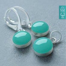 Sady šperkov - Akvamarínová sada - stříbro - 1826490