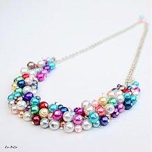 Náhrdelníky - Farebné perličky - 1832775