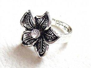 Prstene - kvet s diamantom - 1833303
