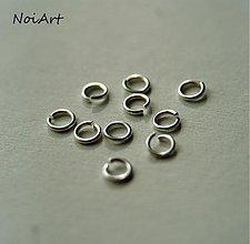 Komponenty - Krúžok priemer 4 mm strieborný - 1839197