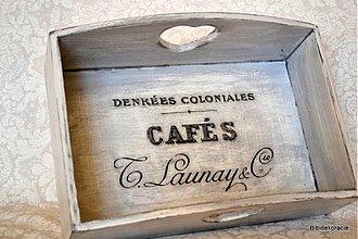 Nádoby - CAFE košík v sivom - 1839338