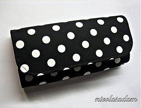 Peňaženky - Peněženka puntíky - na spoustu karet - 1839954