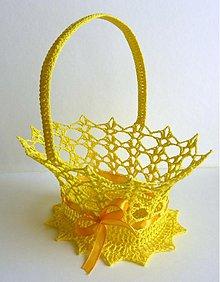 Dekorácie - Žltý košíček - 1840650