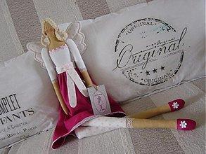 Bábiky - Anjelka v cyklámenovej sukničke - 1840865