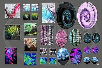 Materiál ručne robený - Motívy na šperky č.11-akcia na všetky motívy-4+1zdarma - 1841934