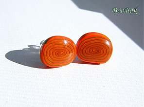 Náušnice - Oranž slimáky - 184199