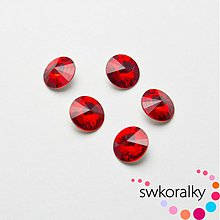 Korálky - RIVOLI 8 mm SWAROVSKI ® ELEMENTS 1122 - Light siam ruby - 1844898