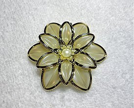 Korálky - Kvet plast-1ks (1=60x13mm) - 1848618