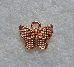 Komponenty - KPr-motýľ 13x10mm-ruž.zl-1ks - 1850408