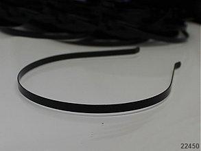 Komponenty - 22450 Základ -čelenka kov 6mm černá, á 1ks - 1853819