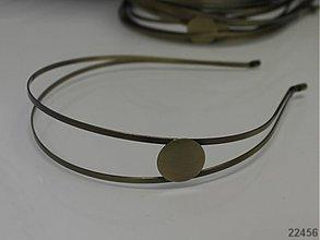 Komponenty - 22456 Čelenka bronzová s lůžkem, á 1ks - 1854000