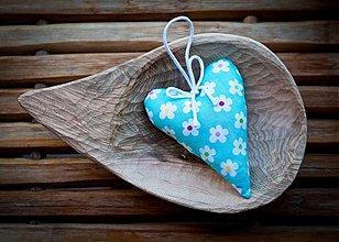 Dekorácie - Levanduľové srdce kvietkové - 1856211