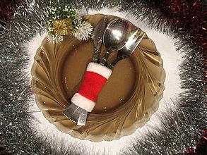 Úžitkový textil - Vianoce - obal na príbor alebo servítku - 1856920