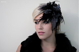 Ozdoby do vlasov - Fascinator Black Magic by Hogo Fogo - 1857417