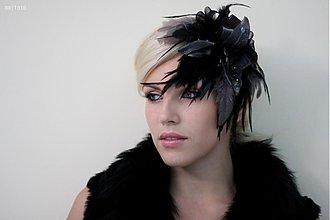 Ozdoby do vlasov - Fascinator Black Magic by Hogo Fogo - 1857417