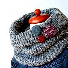 Materiál ručne robený - Buttonky v jesenných svetríkoch - 1858595