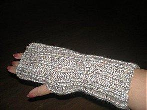 Rukavice - Rucne pletene rukavice-vhodne pre muzov i zeny - 186321
