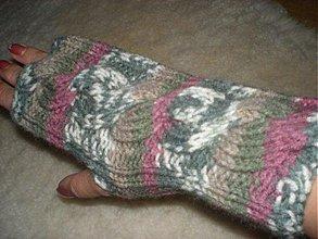 Rukavice - Ručne pletené rukavice - 186915