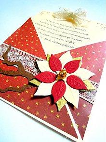 Papiernictvo - Vôňa vianočnej ruže... - 1873386