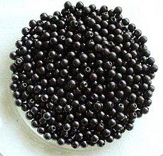 Korálky - perličky čierne 4mm/ 100ks - 1875101