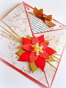 Papiernictvo - Vianočná ruža... - 1875838