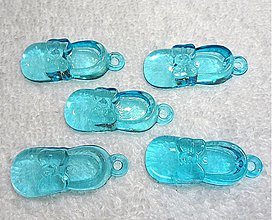 Komponenty - Plast.topánočka-modrá-1 ks - 1878841
