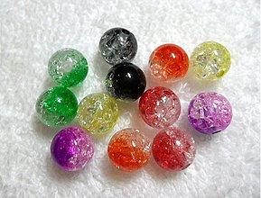 Korálky - KRAKL plast 10mm-MIX2-12ks - 1879076
