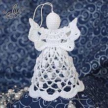 Dekorácie - Háčkovaný anjelik popcornový - 1881201