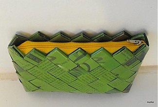 Taštičky - zelená ecoistka na drobnosti - 1882355