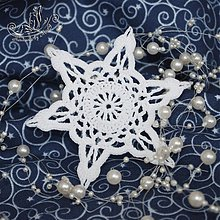 Dekorácie - Biela háčkovaná hviezdička - 1884404