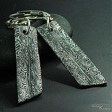 Náušnice - Kované nerezové naušnice damasteel - Klimb - 18845